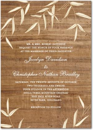 Gentle Wood Wedding Invitation