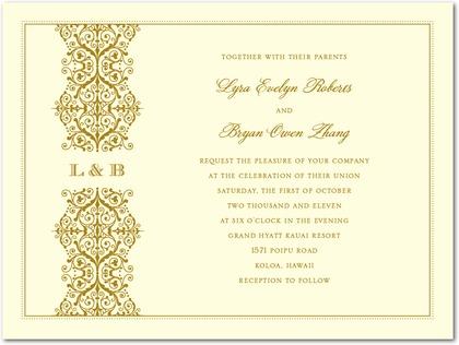 Royal Monogram Wedding Invitation