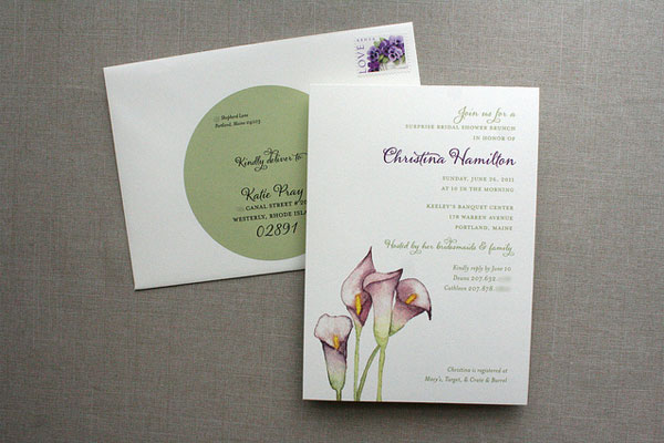 Watercolor Calla Lily Wedding Invitations