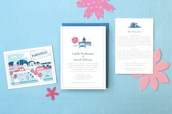 Washington D C Wedding Invitations