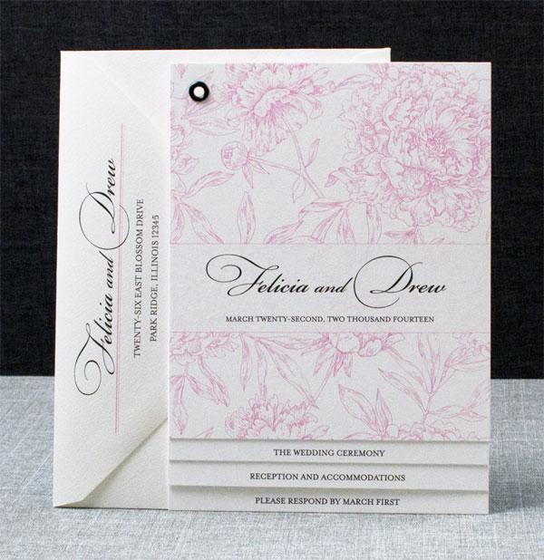 Fl Booklet Wedding Invitations