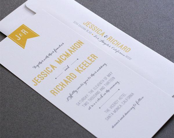 Stylish Modern Wedding Box Invitation Elegant