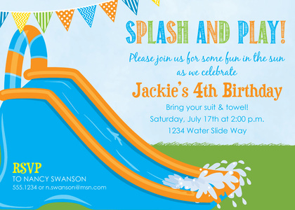 girls water slide birthday party