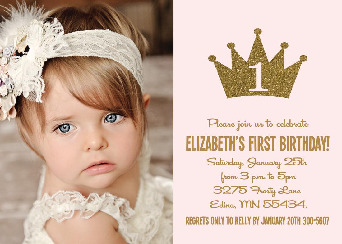 gold glitter princess crown photo