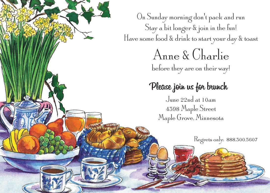 breakfast brunch invitations