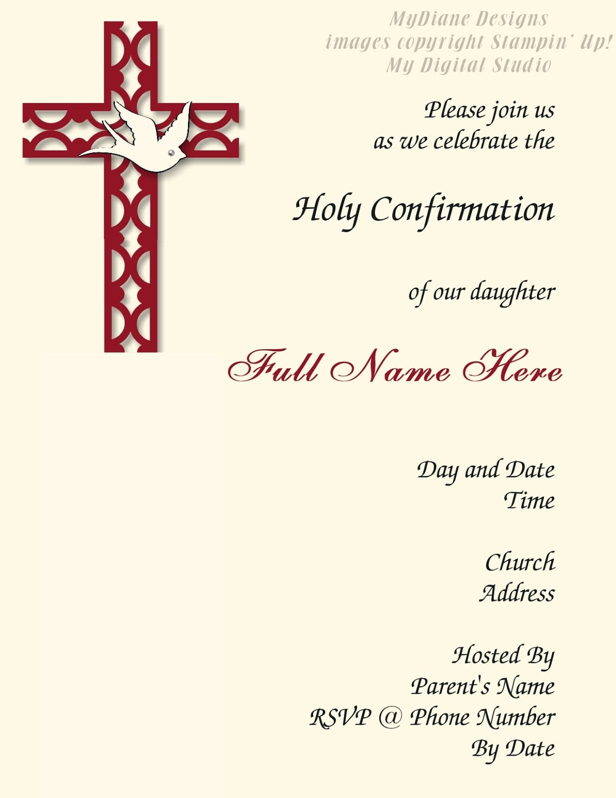 Nifty Free Printable Confirmation Cards