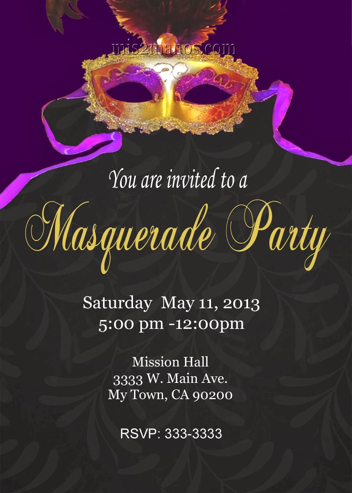 Mardi Gras Invitation Free Printable