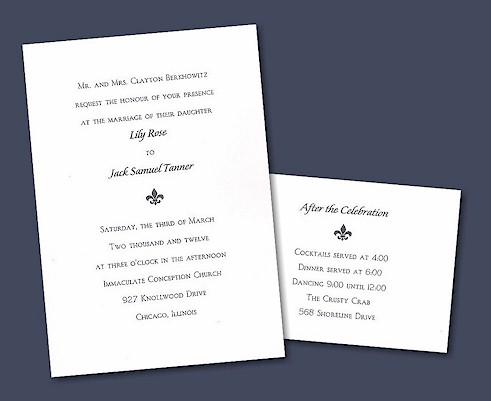 Creative Custom Letterpress Wedding Invitations
