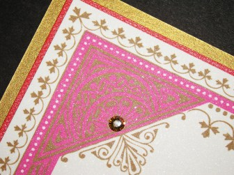 Moroccan Party Invitation Close Up