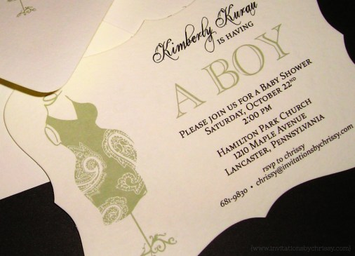 Kim Baby Shower Invitation