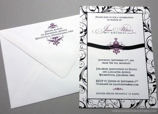 Jean Birthday Invitation