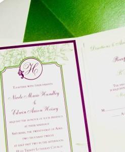 Nicole Pocketfold Wedding Invitation