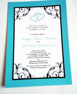 Blue Heart Wedding Suite| hearts, blue, flourish, border