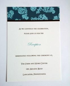 Blue Reception Invite