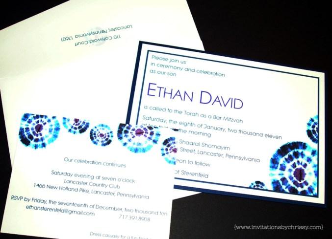 Ethan Bar Mitzvah Invitation