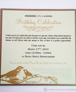 Green Birthday Invite