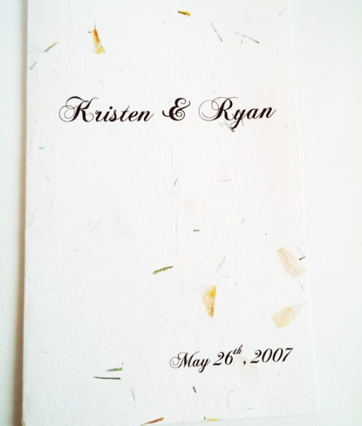 Kristen Ceremony Program