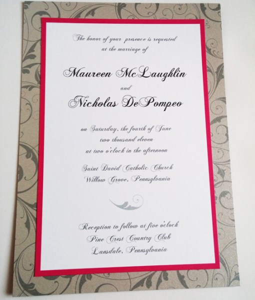 Maureen Wedding Invitation
