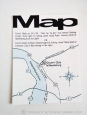 Francis Birthday Invitation Map Card