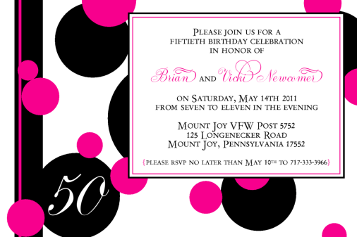 Vicki Birthday Invitation