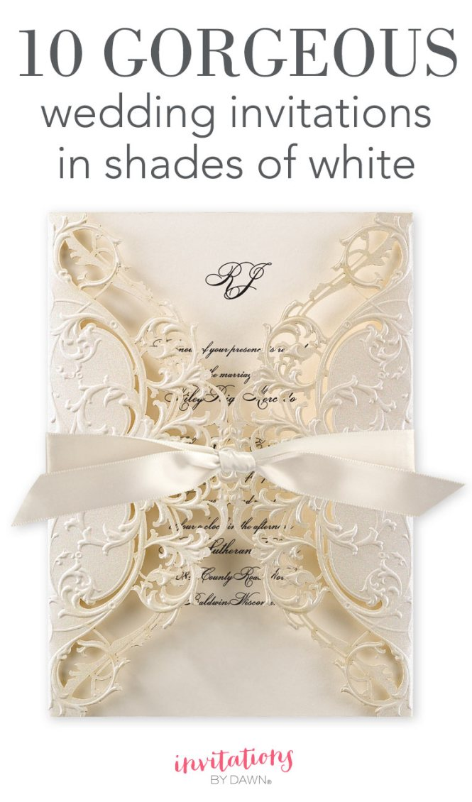 10 Gorgeous Wedding Invitations In Shades Of White
