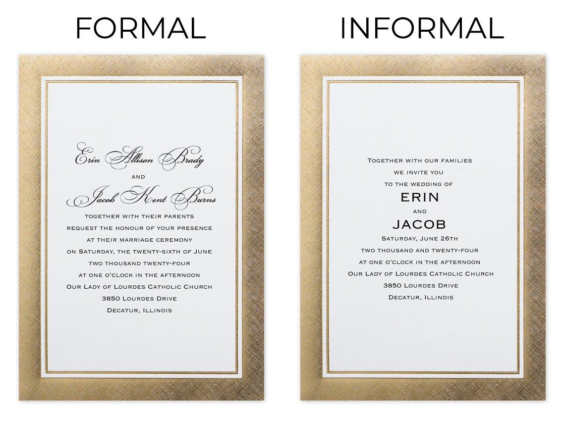 invitation formally or informally