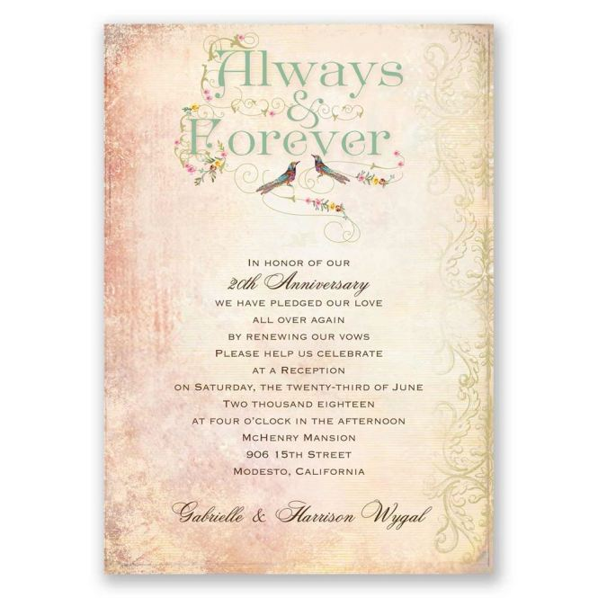 Forever Vow Renewal Invitation