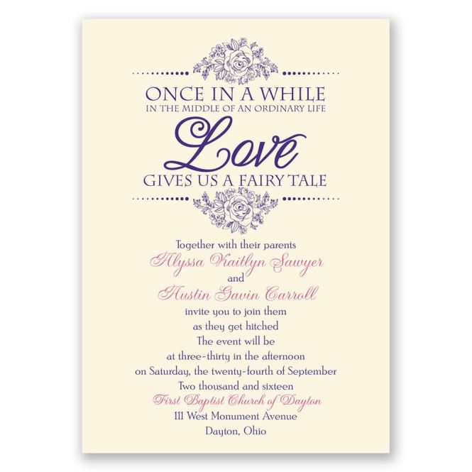 Fairy Tale Love Invitation