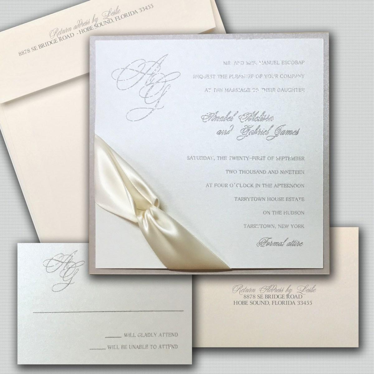 Petal Peach Wedding Invitations
