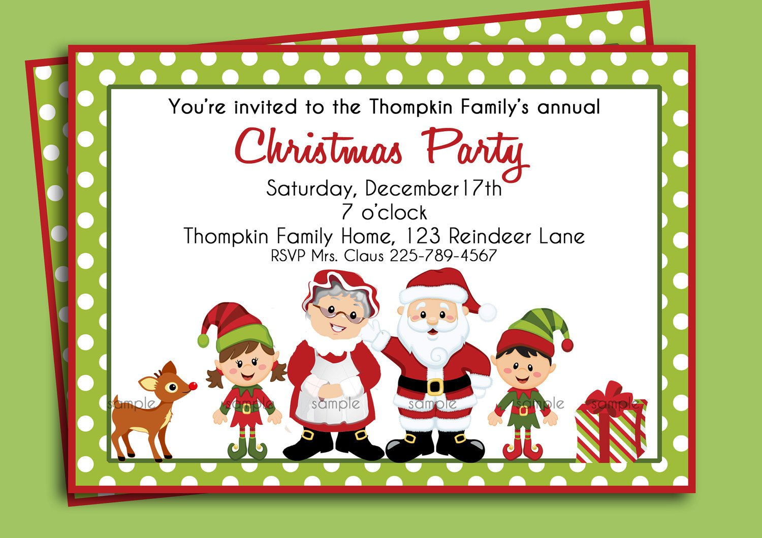 free christmas invitations printable template Invitationjpgcom