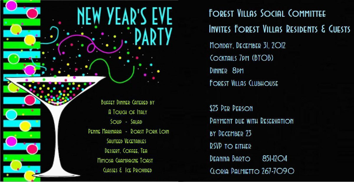 Invitation For New Year Party Templates – Merry Christmas And Happy ...