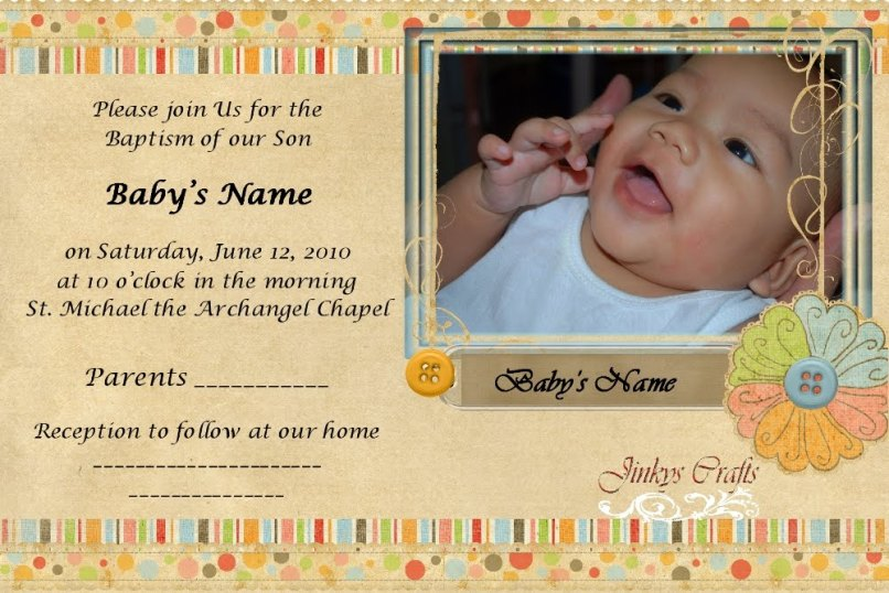 Sample of invitation card for christening and birthday sample invitation letter baptism gallery and stopboris Images