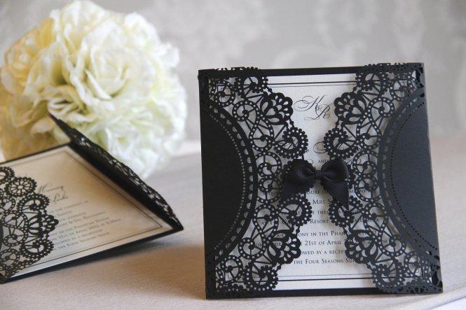 Lace Wedding Invitations – Black Lace Wedding Invitations