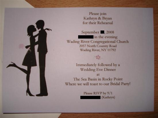Wedding Rehearsal Dinner Etiquette Invitation Pleasing
