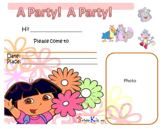 Dora Invitation Card – Dora Party Invites