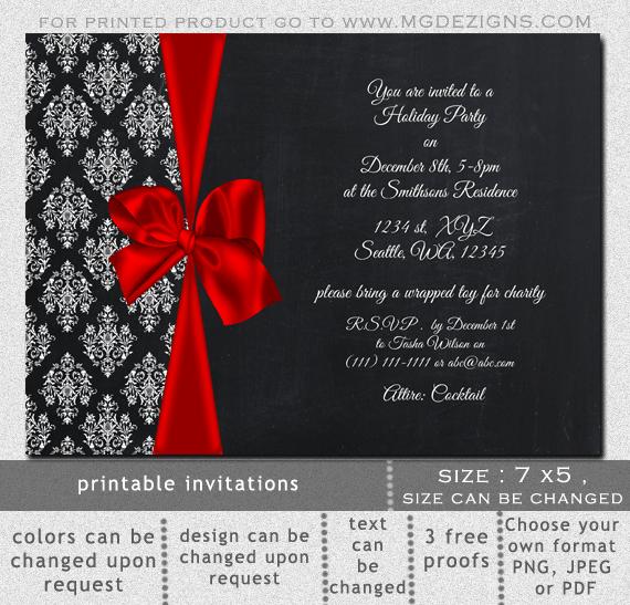 Holiday Wedding Shower Invitations