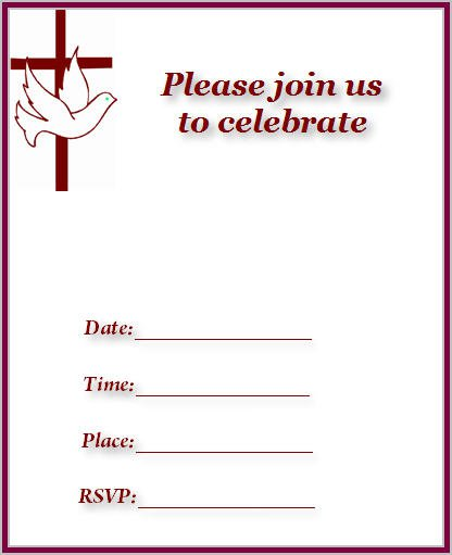 Church Invitation Cards Printable