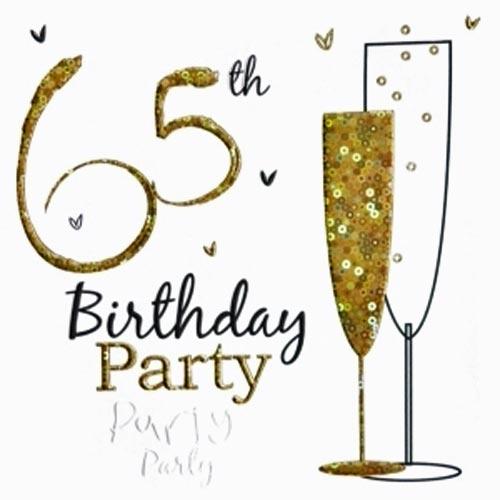 65th Wording Birthday Invitation Party