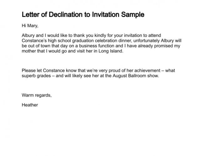 Invitation Note For Wedding: Decline Wedding Invitation