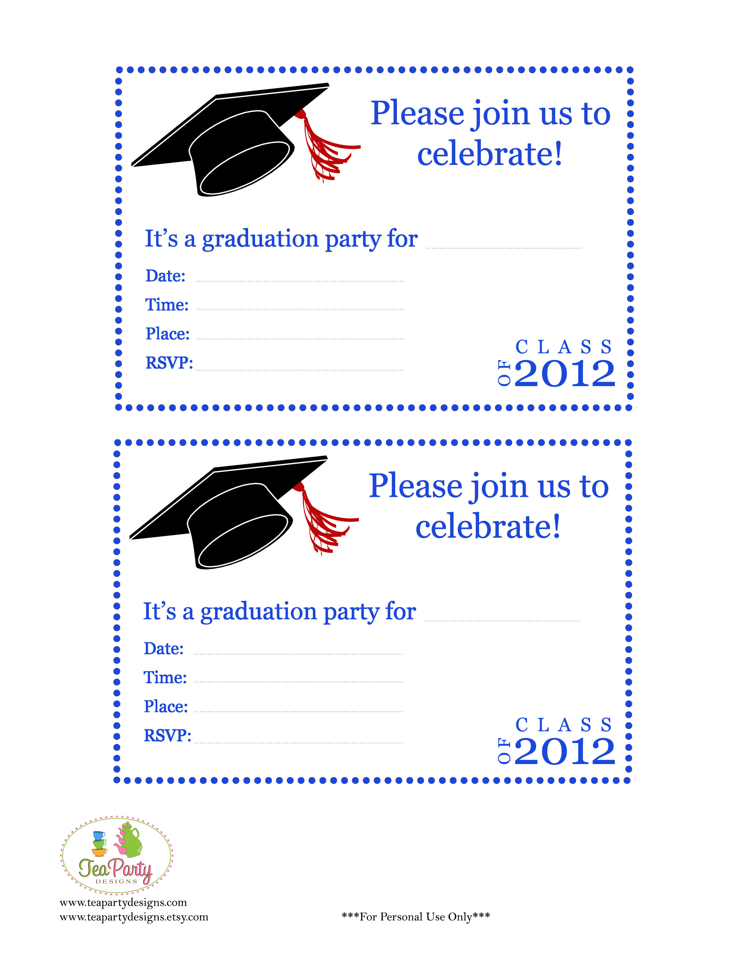 Printable Childrens Birthday Party Invitations