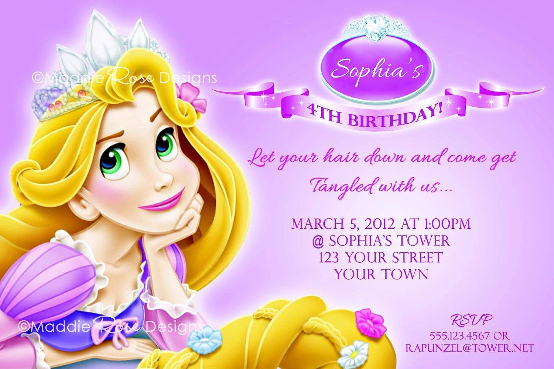 Free Tangled Printable Birthday Invitations