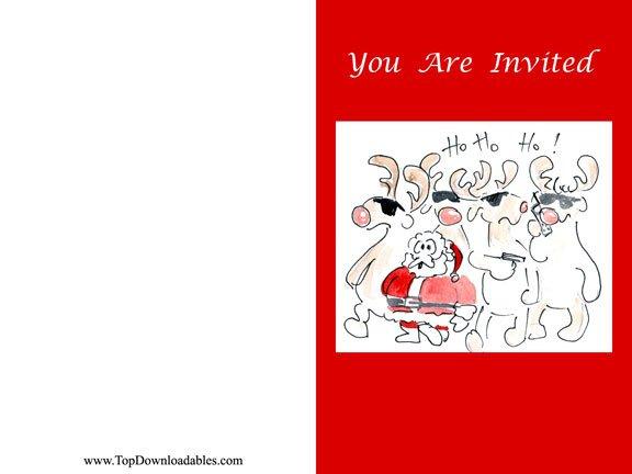 Funny Christmas Invitations