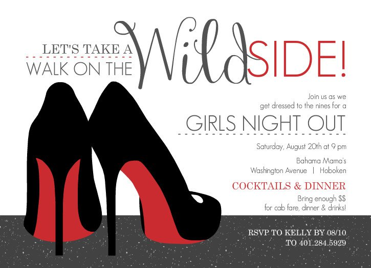 Girls Night Out Invitation Templates