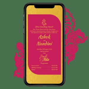 Invites Cafe Hindu Wedding Invitation 004