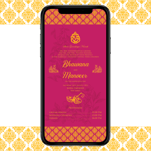 Invites Cafe Hindu Wedding Invitation 005