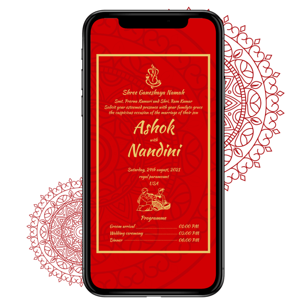Invites Cafe Hindu Wedding Invitation 010