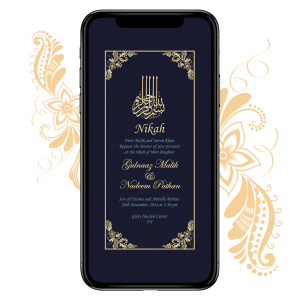 Invites Cafe Muslim Wedding Invitation 002