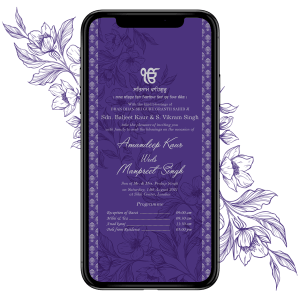 Invites Cafe Sikh Wedding Invitation 003