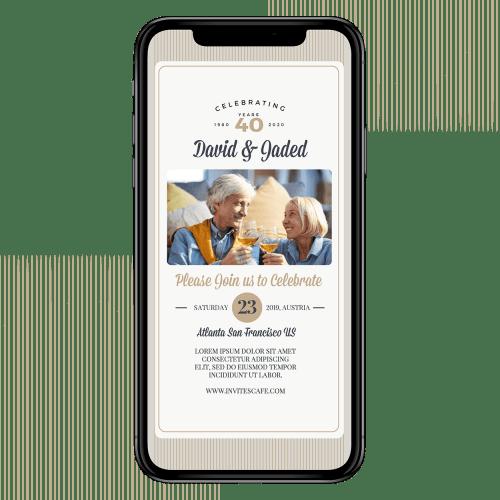 Invites Cafe Anniversary Invitation 009