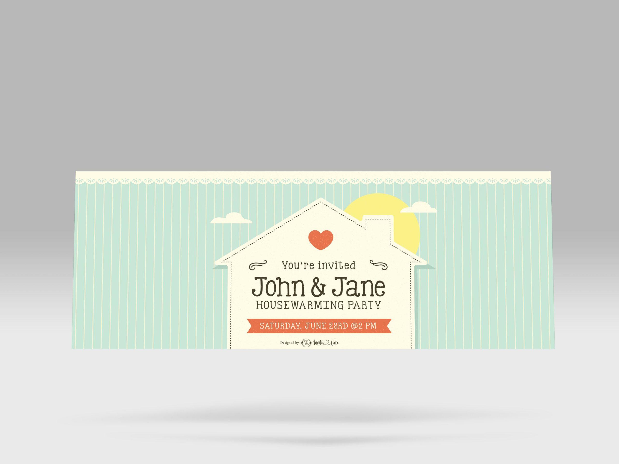house warming invitation card